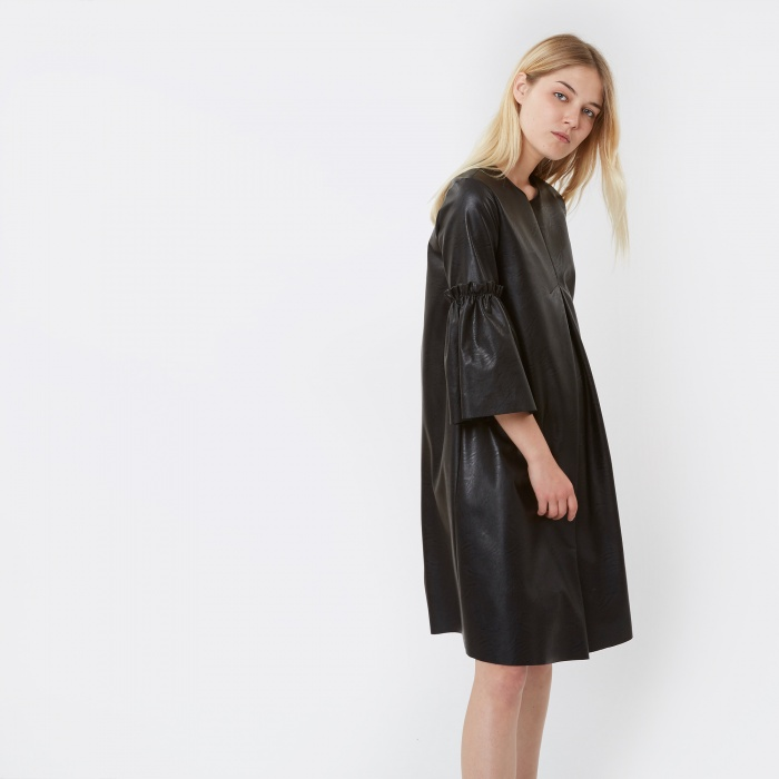 MM6 Maison Margiela MM6 Faux Leather Dress - Black (Image 1)