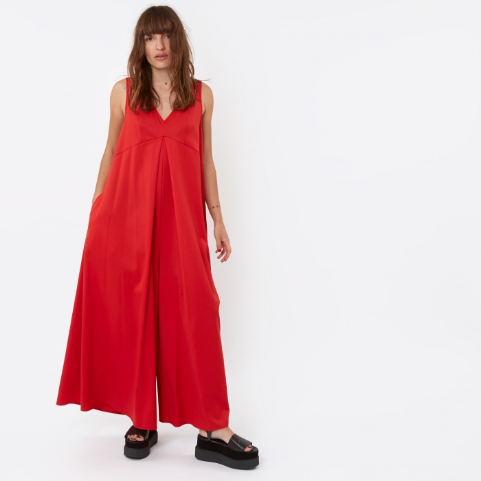 MM6 Maison Margiela MM6 Jumpsuit - Red (Image 1)