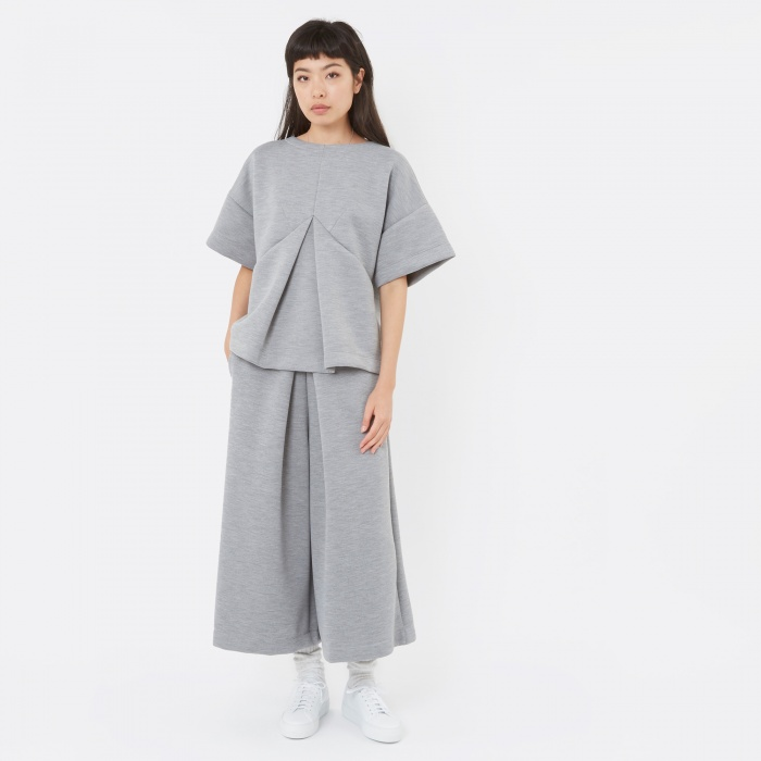 MM6 Maison Margiela MM6 Pleat Front Trouser - Grey (Image 1)
