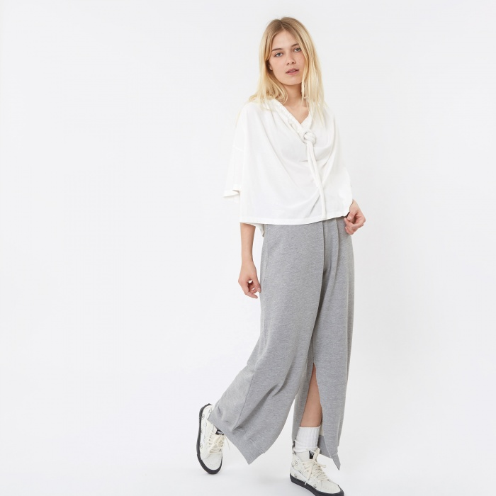 MM6 Maison Margiela MM6 Split Trousers - Grey (Image 1)