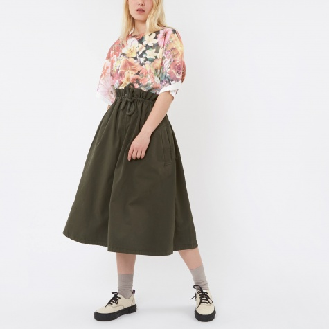 MM6 Drawstring Skirt - Military Green