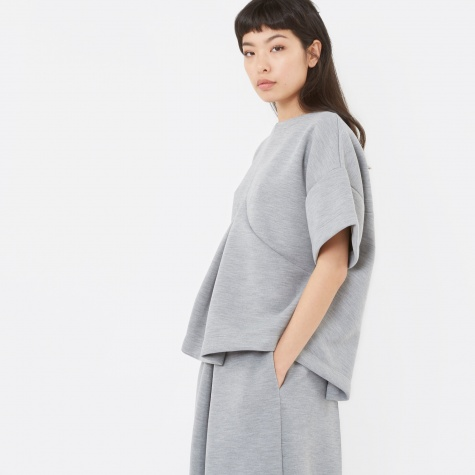MM6 Pleat Front Top - Grey