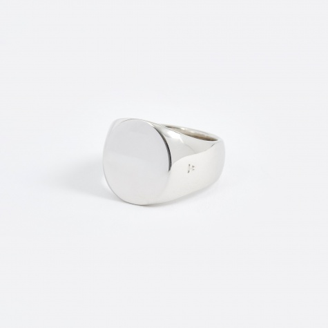 Polished Oval Ring  - Silver