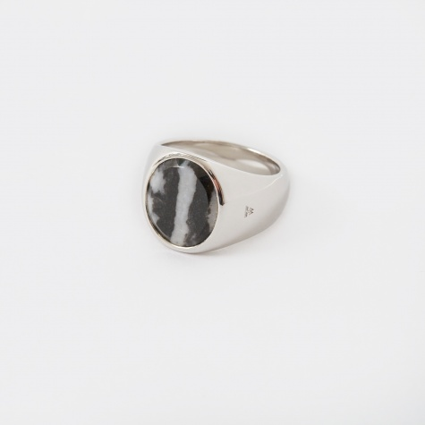 Oval Ring -  Zebra Marble
