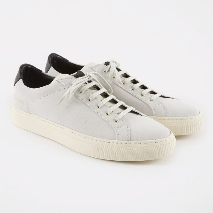 Common Projects Achilles Retro Low Suede - White (Image 1)