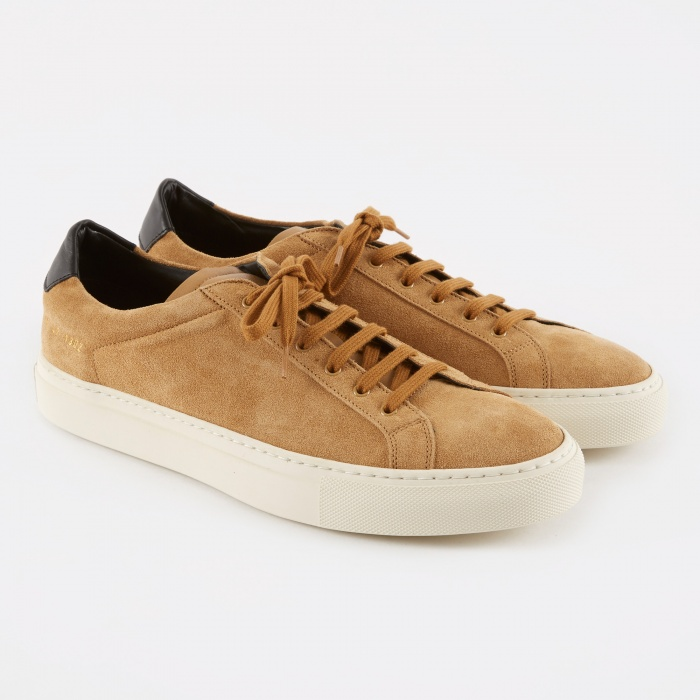 Common Projects Achilles Retro Low Suede - Tan (Image 1)