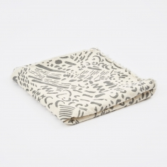 Jenny Pennywood Dashes & Moons Throw - Charcoal