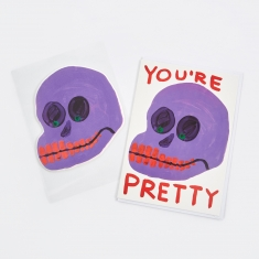 David Shrigley You're Pretty Puffy Sticker Card