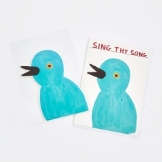 David Shrigley Sing Thy Song Puffy Sticker Card