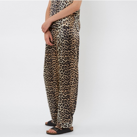 Dufort Silk Trouser - Leopard