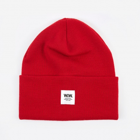 Gerald Tall Beanie - Red