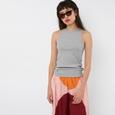 Wood Wood Isabel Top - Grey Melange