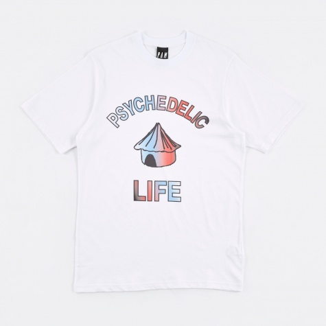 PAM Perks & Mini Psychedelic Life S/S T-Shirt - White