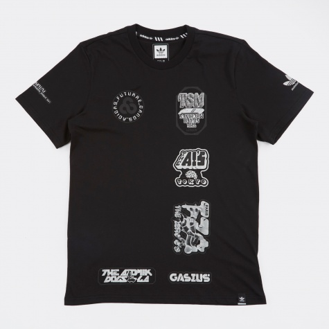 x Gasius Graphic SS T-Shirt - Black