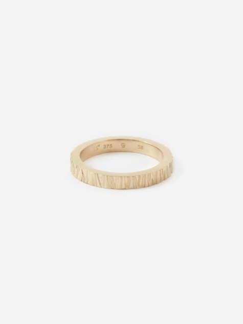 Medium Structure Ring - 9K Gold