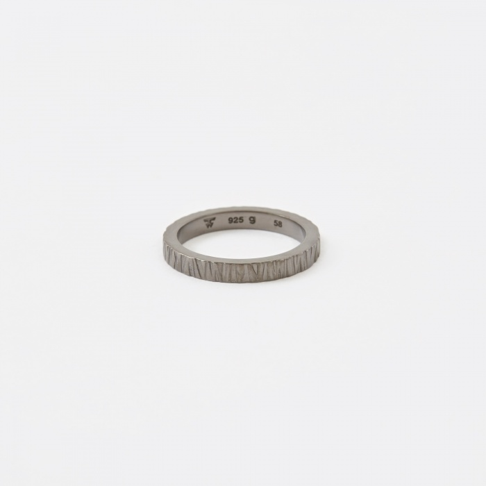 Tom Wood Structure Ring - Silver/Black (Image 1)