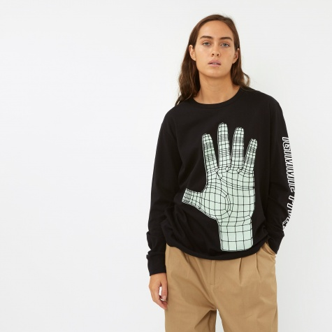 Long Sleeve Gimme Five Top - Black