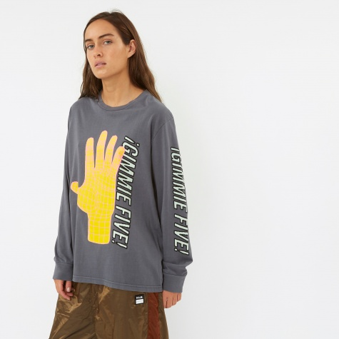 Long Sleeve Gimme Five Top - Grey