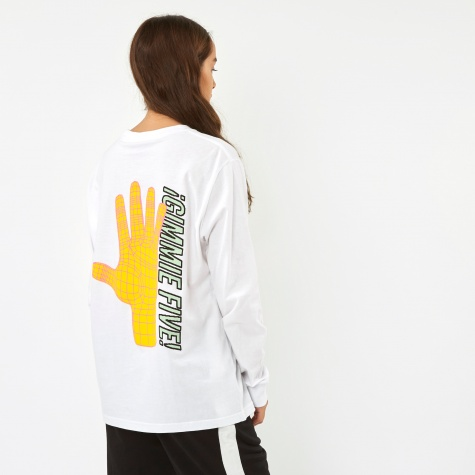 Long Sleeve Gimme Five Top - White
