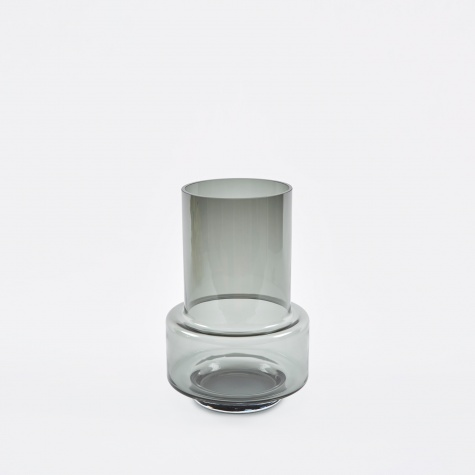 Hurricane Tea Light Holder - Smoked Grey