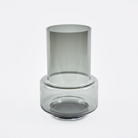 Hurricane Candle Holder & Vase - Smoked Grey
