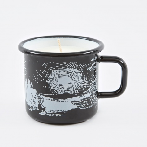 Moomin Sunset Enamel Mug With Candle - 3,7dl - Black