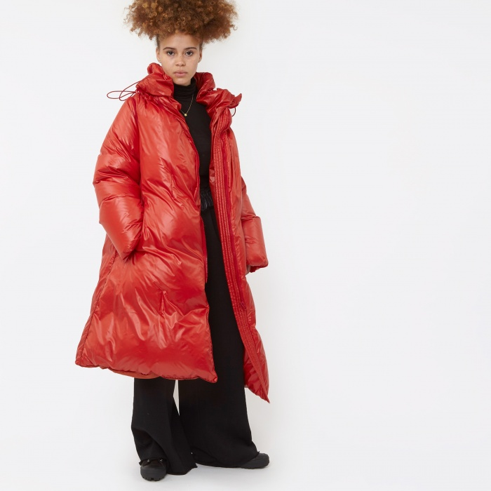 MM6 Maison Margiela MM6 Long Puffa Coat - Orange (Image 1)