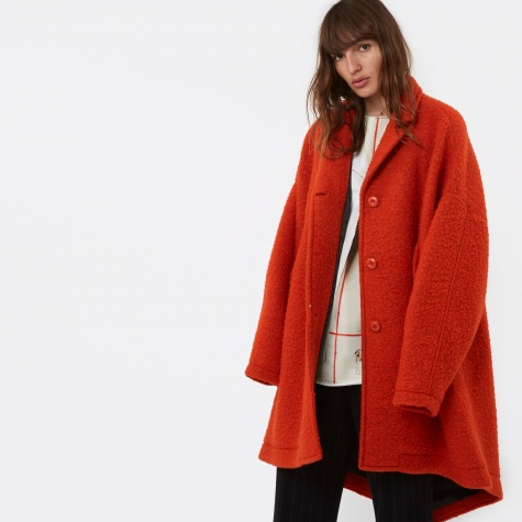 MM6 Mid Length Wool Coat - Orange