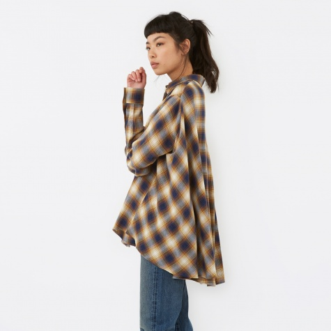 MM6 Checkered Cape Shirt - Mustard Check