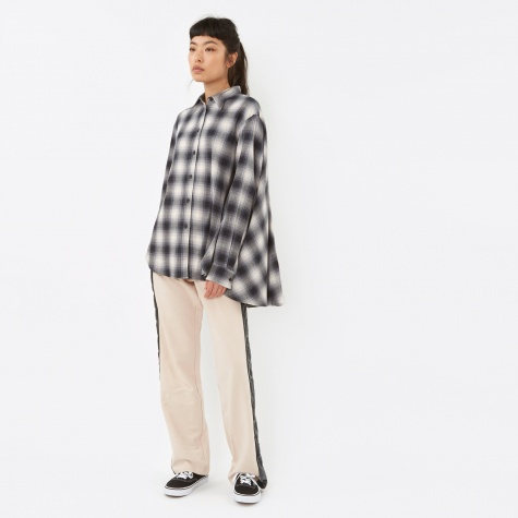MM6 Checkered Cape Shirt - Black Check