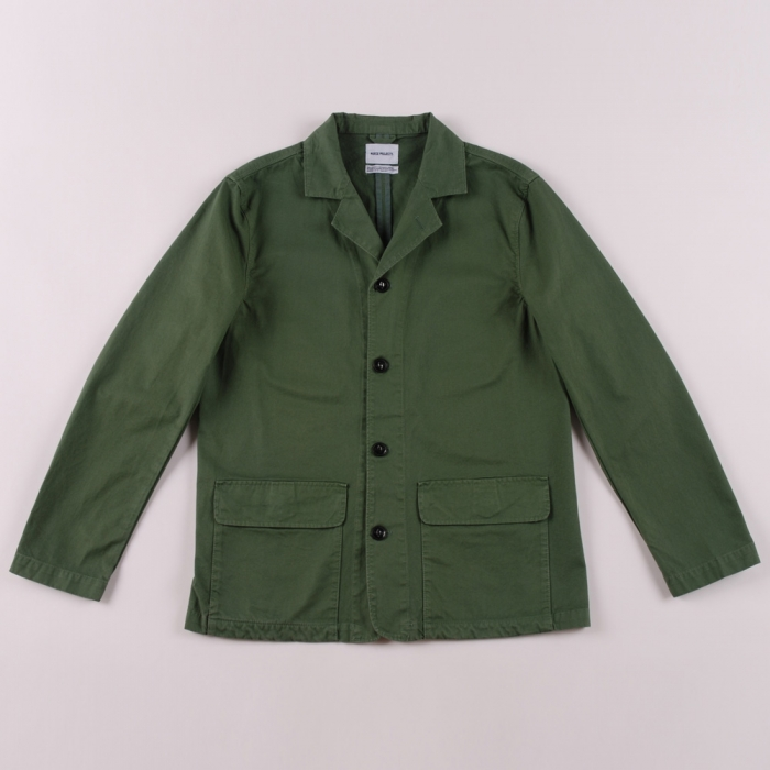 Norse Projects Aardal Shirt Blazer - Leaf Clover Green (Image 1)