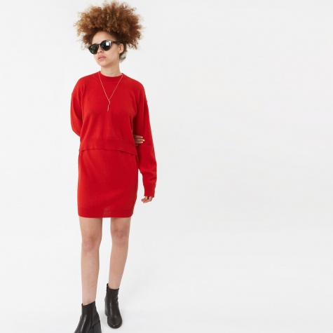 MM6 Knitwear Dress - Red