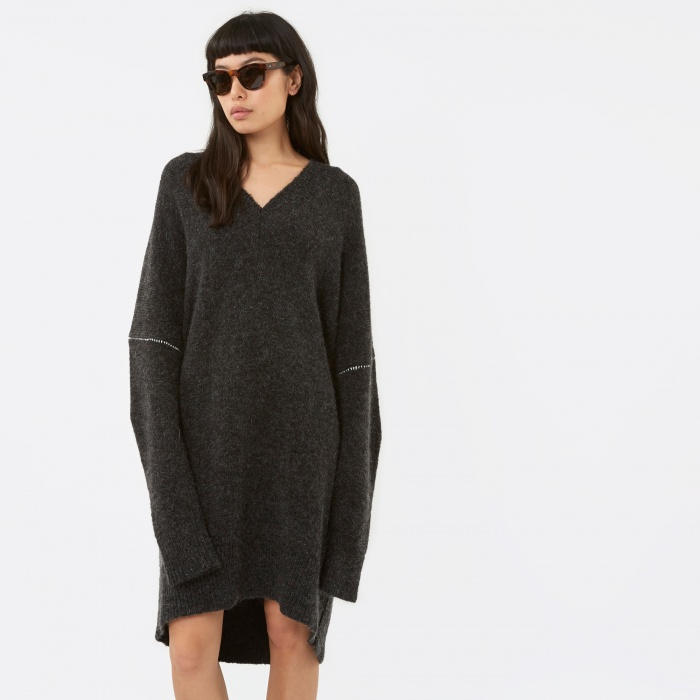 MM6 Maison Margiela MM6 Knitwear Dress - Anthracite (Image 1)
