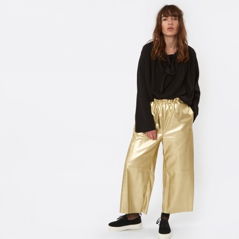 MM6 Faux Leather Pant - Gold