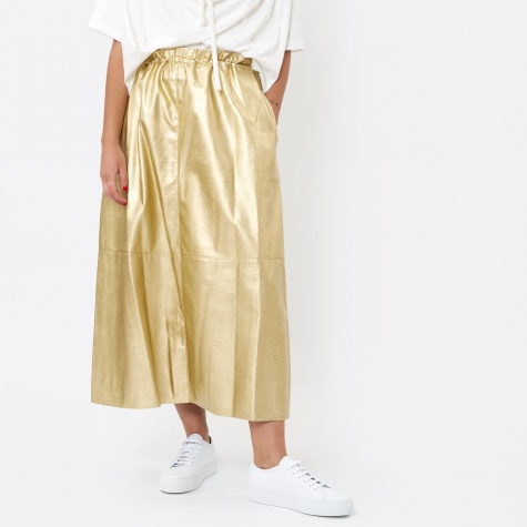 MM6 Faux Leather Skirt - Gold