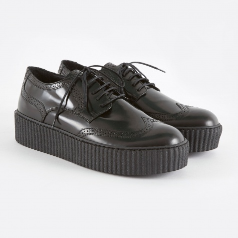 MM6 Creeper Brogues - Black