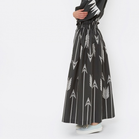Directional Arrow Skirt - Washed Black & Bone