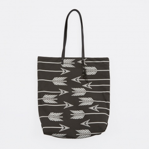 Directional Arrows Tote Bag - Washed Black & Bone