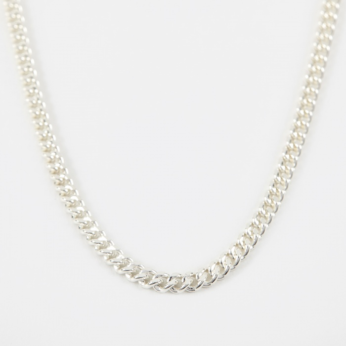 Goods By Goodhood 40 Filed Curb Chain - Silver (Image 1)