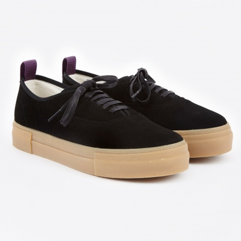Mother Suede Sneakers- Black/Gum