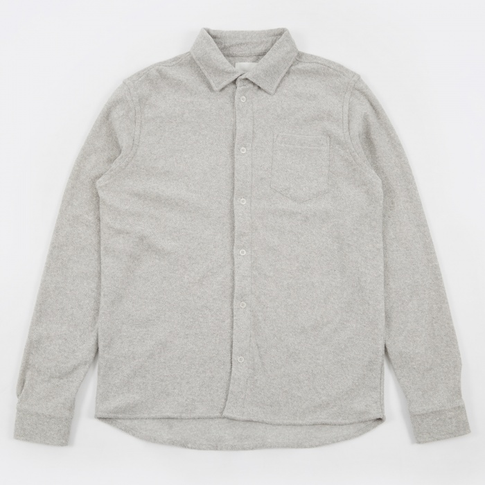 Wood Wood Oval Shirt - Light Grey Melange (Image 1)