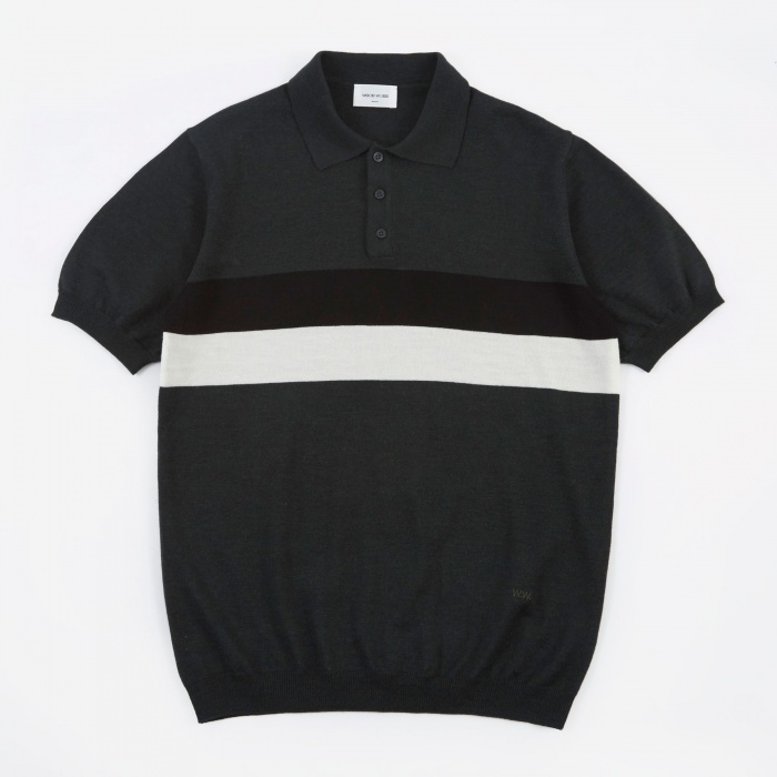 Wood Wood Scott Polo - Dark Green (Image 1)