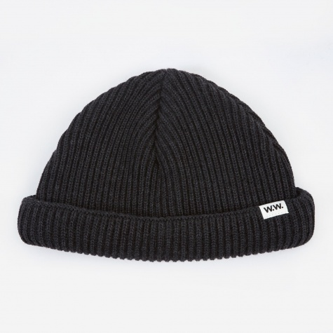 Daci Ribbed Beanie - Dark Grey