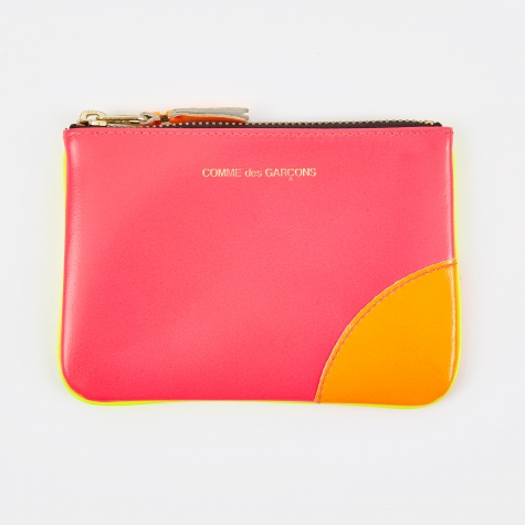 Comme des Garcons Wallet Super Fluo (SA8100SF) - Pink/Yellow