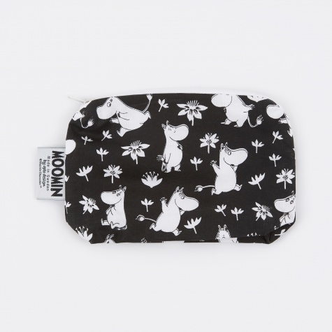 Moomin Fabric Toiletry Bag - Black