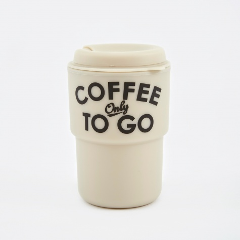 Coffee Only To Go Tumbler - White