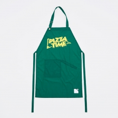 Blue Chip Pizza Time Apron - Green