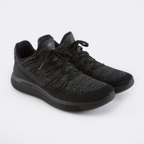 LunarEpic Low Flyknit 2 Running Shoe - Black/Black-Dark Gre