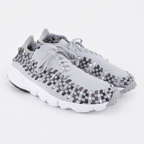 Air Footscape Woven NM Shoe - Wolf Grey/Black-Dark Grey-Whi