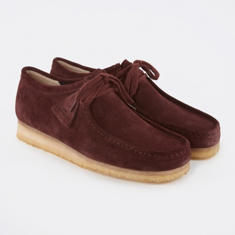 Clarks Wallabee Shoe - Burgundy Suede